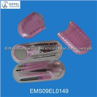 Promotional glass case 9PCS manicure tools (EMS09EL0149)
