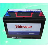 JIS standard 12V80Ah Maintenance Free Auto Battery