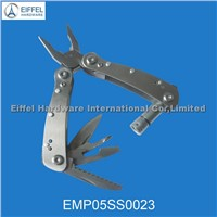Stainless steel Multi plier with torch , closed size 7.4cm L(EMP05SS0023 )