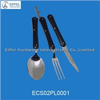 Portable cutlery set in black pouch(EMS02PL0001 )