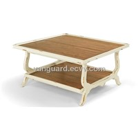 Solid wood/Plank Top Square Cocktail Table