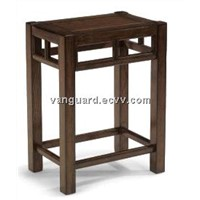 Wooden/Glass Shelf Rectangle End Table
