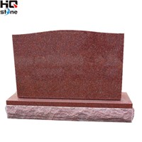 Serp. Top Monument in Indian Red Granite