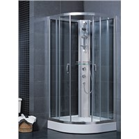 cUPC & CE certified White acrylic sliding glass sector shape shower enclosure