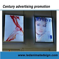 Indoor Using LED Animated Acrylic Advertising Poster Frame