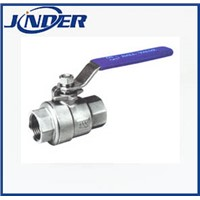Stainless steel 2 pieces ball valve
