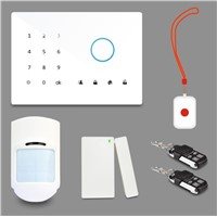 Touch keyad GSM alarm system with wireless Relay