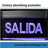 Colorful led acrylic sign