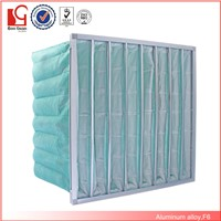 Galvanized frame Synthetic fiber medium efficiency f5 f6 f7 f8 f9 pocket air filter