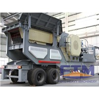 High quality concrete mobile crusher plant