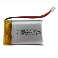 High temp. battery HPL502030 250mAh 3.7V, used for car black box products