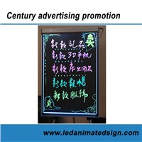 Aluminum frame led writing message board