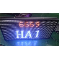 P7.62 double sides dual color led signs