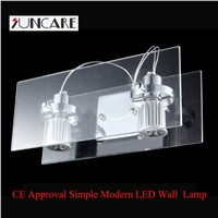 modern simple style glass led wall lamp