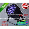 6in1 LED PAR light  24*18W RGBWA(uv)  (PAR-T2406)