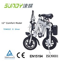 12-Inch Aluminum and magnesium Alloy Mini Folding Electric Bike-silver