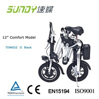 12-Inch brushless motor Mini Folding Electric Bicycle-black