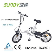 16-inch Aluminum alloy Mini Folding Electric Bike-white