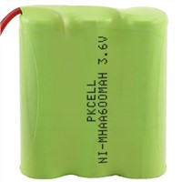 3.6V 600mAh NI-MH Idustrial Rechargeable Battery Pack