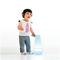 For kids Novelty style italy design RGB fuction wireless charging plastic white color LED table lamp