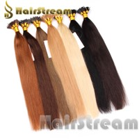 I/U Tip Hair Keratin nail Hair Extensions 100% Human Hair  Wholesale