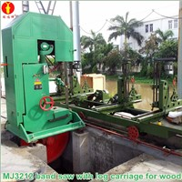 MJ3212 Vertical wood band saw mill for log cutting