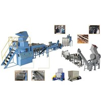 PE PP Film Woven Bag Washing Recycling Line