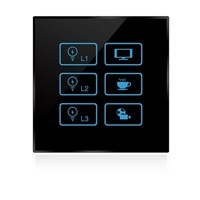 Wireless infrared wifi remote control networking zigbee curtain control touch panel