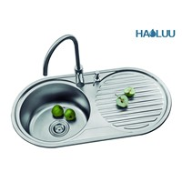 Top Mounted Single Bowl Kitchen Sink With Board HL61402