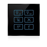 Wireless infrared wifi remote control networking zigbee dimmer touch panel switch