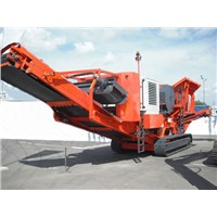 Track granite mobile crusher