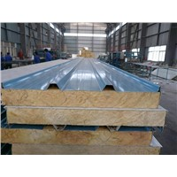 fireproof rockwool insulation sandwich panel rockwool roof panel