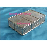 stainless steel medical instrument wire mesh basket