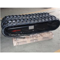 3 ton drilling rig crawler rubber track undercarriage