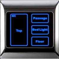light switch with led indicator with PC or metal frame