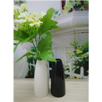 Black and white ceramic table vase