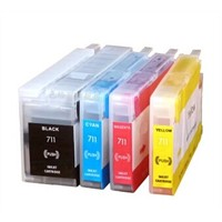 New brand compatible refillable ink cartridges hp711 for HP T120 T520 with chip