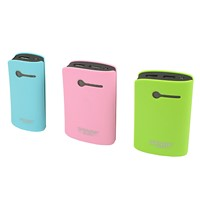 Double USB Outputs with LED Torch high capacity and slim power bank with 7800mAh