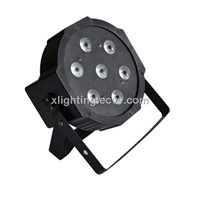 7x 9W RGB DMX Stage Lights Business Lights Led Flat Par High Power Light