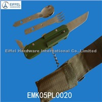 Hot sale Camping cutlery with ABS handle (EMK05PL0020)