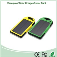 Waterproof  Solar Power Bank 5000mah with USB Port and LED Touch Light