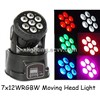 LED Mini Moving Head Light Wash 7x12w RGBW Quad Moving Head Wash