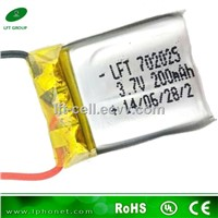 702025 3.7v 200mah ce ul rechargeable lipo battery for WLtoys V911 Upgraded 4CH Mini RC Helicopter