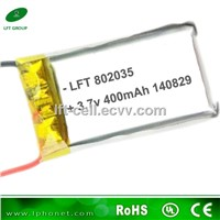 802035 3.7v 400mah lipo battery with W/JST connector MINI battery for indoor RC TY901 helicopter