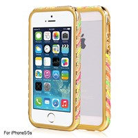 New Styles Twinkles Upon Incoming Calls Metal Bumper Case for iPhone5/5S
