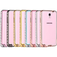 TPU Frame Decorated Metal Bumper Case for iPhone