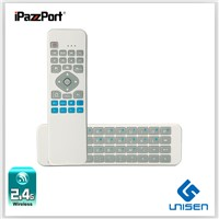 iPazzPort 6 axial Gyro sensor air /fly mouse Mini Wireless Keyboard With IR Remote for smart TV