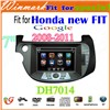 "DH7014 7"" 2 din special car dvd player for Honda new fit 2008-2011"