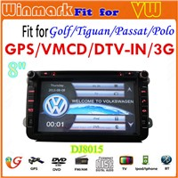 car GPS for VW/SEAT/SKODA with bluetooth radio gps tv rds tmc pip 3g etc DJ8015