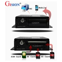 mobile dvr, 4CH Car DVR,cycle recording,D1,I/O,Vehicle DVR, support SD card up to 128G, GS-7104